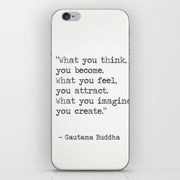 Buddha quote 5 iPhone Skin