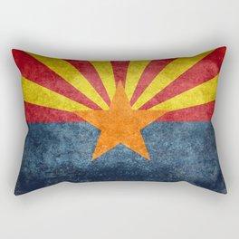 Flag of Arizona, Vintage Retro Style Rectangular Pillow