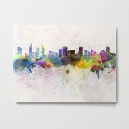Ho Chi Minh skyline in watercolor background Metal Print