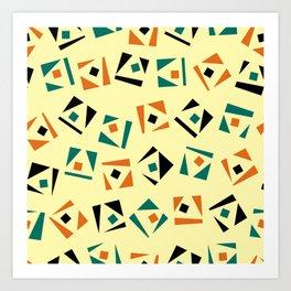 Random geometric pattern Art Print