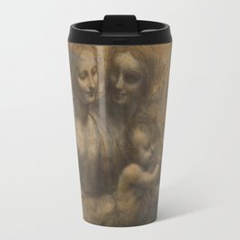 The Virgin and Child with St Anne and St John the Baptist by Leonardo da Vinci Travel Mug