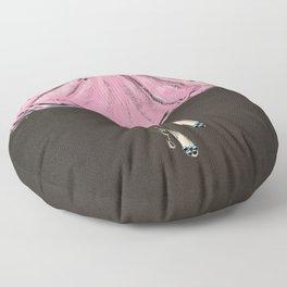 Jolie Pink Fashion Illustration Floor Pillow