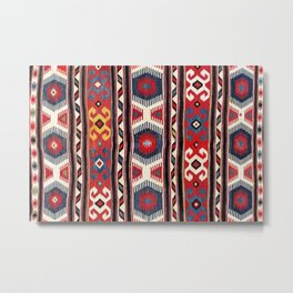 Kazak  Antique Southwest Caucasus Kilim Print Metal Print