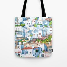 Panorama of Lindos Tote Bag