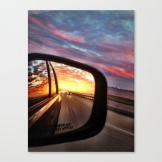 Always Look Behind You Canvas Print