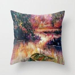 Lakeside dream Throw Pillow