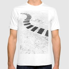 Floating plates MEDIUM Mens Fitted Tee White