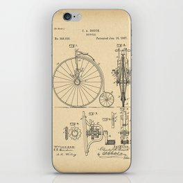 1887 Patent Bicycle Velocipede iPhone Skin