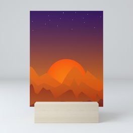 Slumbering Hills, Southwestern Landscape Art Mini Art Print
