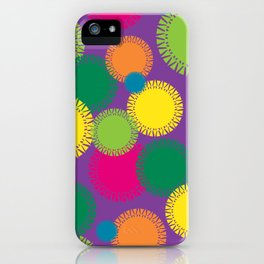 Spikey Circles Purple iPhone Case