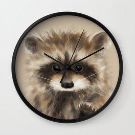 Racoon Portrait Wall Clock