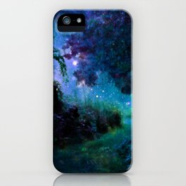 Fantasy Garden Path Midnight iPhone Case