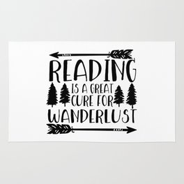 Reading is a Great Cure for Wanderlust Rug
