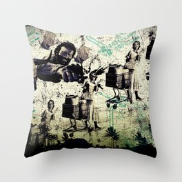 AT THE BUD MARKET by ZZGLAM Throw Pillow