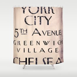 New York City Street Sign II Shower Curtain