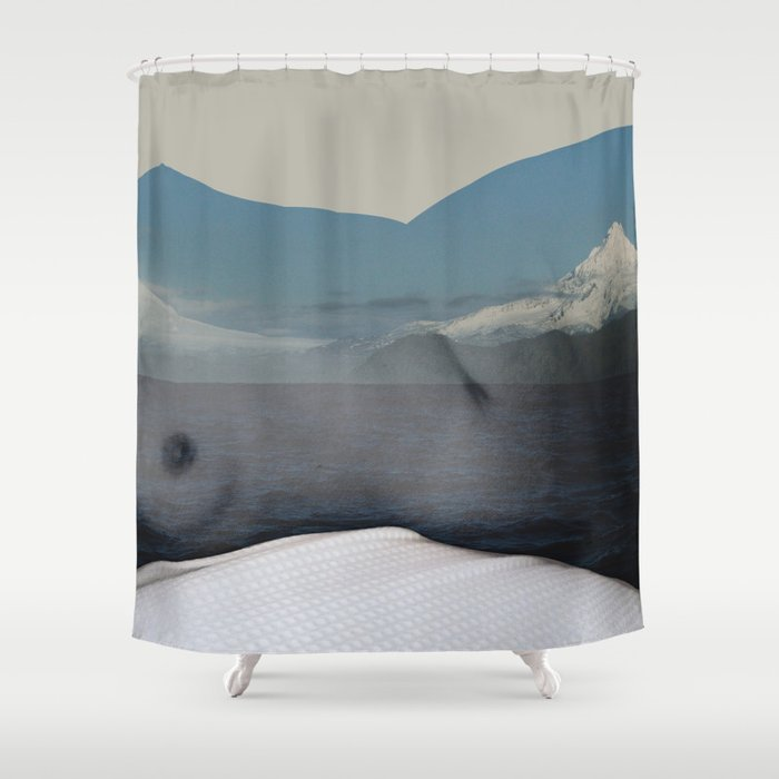 Twin Peaks Shower Curtain By Parissis