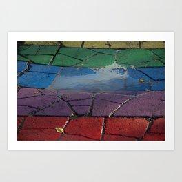 Street Paved with Raimbow Art Print
