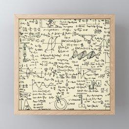 Physics Equations // Parchment Framed Mini Art Print