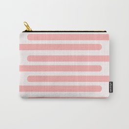 Pink Stripes With Spots Carry-All Pouch