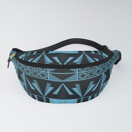 Art Deco Abstract Pastel Pattern Blue Fanny Pack