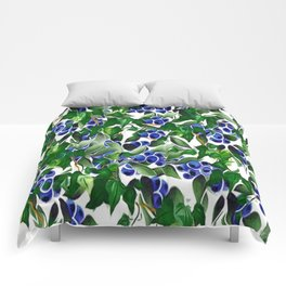 Blueberries and Ivy Comforters