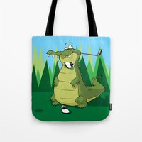 golf Tote Bags featuring Golf  by Tony Vazquez