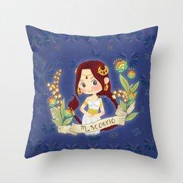 SCORPIO my cute horoscope Throw Pillow