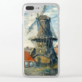 "Claude Monet ""The Windmill, Amsterdam"", 1871 Clear iPhone Case"