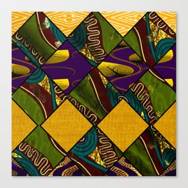 Earthy Mardi Gras African Print Canvas Print