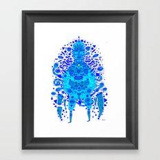 igen igen blue Framed Art Print