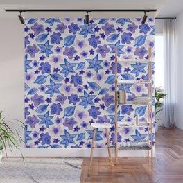 Purple Flowers Wall Mural