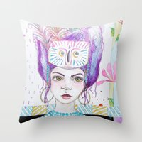 arya Throw Pillows featuring Arya by ChristyAnne