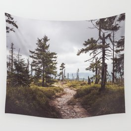 Over the mountains and through the woods Wall Tapestry