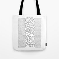 joy division Tote Bags featuring Joy Division  by Thug