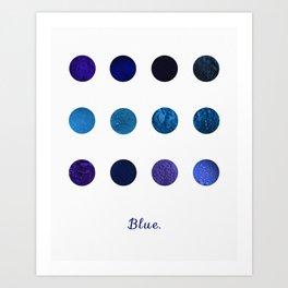 Blue Pigments Art Print