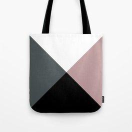Modern dusty pink gray black white geometrical Tote Bag