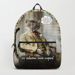 Sir Sebastian Snow Leopard Backpack