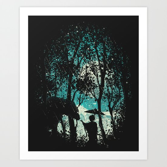 The Bear And The Geisha Art Print