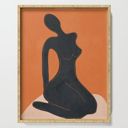 Abstract Nude II Serving Tray