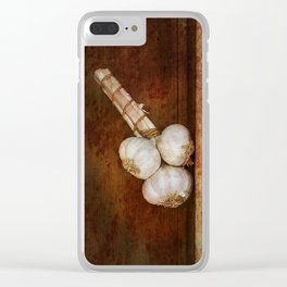 Bunch of garlic heads Clear iPhone Case