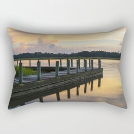 Sunset at the Denbigh Boat Ramp II Rectangular Pillow