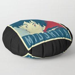 Midoriya Hope Poster Floor Pillow