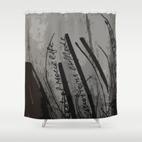 reassurance Shower Curtains featuring Ink IV by Magdalena Hristova
