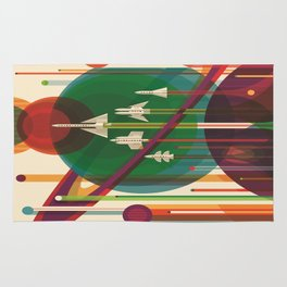 The Grand Tour : Vintage Space Poster Rug