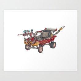The Dragon Wagon Art Print