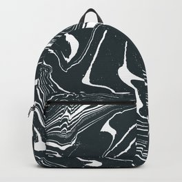 Monochrome Liquid Marble Texture Surface 65 Backpack