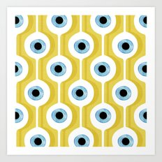Eye Pod Yellow Art Print