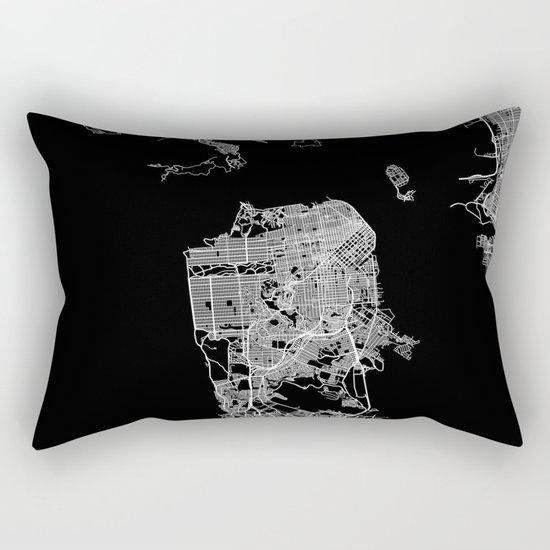 san francisco map Rectangular Pillow