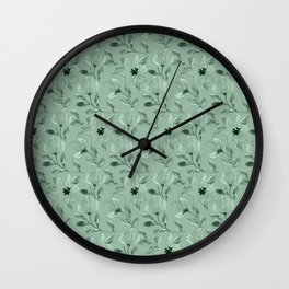 Watercolour Lilies VIII Wall Clock