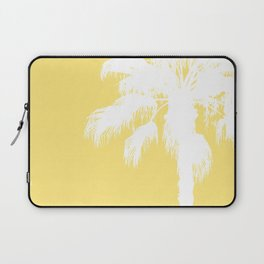 Palm Silhouettes On Yellow Laptop Sleeve